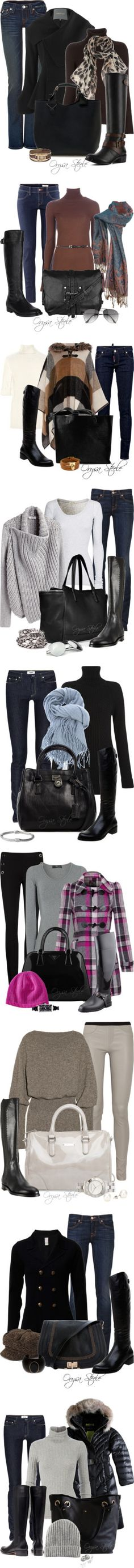 """""""Black Riding Boots"""" by orysa on Polyvore"""