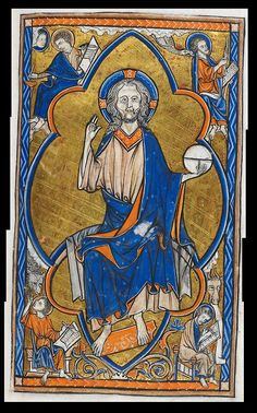 Christ In Majesty Folio 15r from The Oscott Psalter. An extensive use of Gold on this page which also includes portraits of the four evangelists in the corners. This is another large image I put together, so make sure you click through to get it full size. Made 1265-1270, Origin; England, probably Oxford. ADD MS 50000; Images from the British Library manuscript website http://www.bl.uk/manuscripts/FullDisplay.aspx?ref=Add_MS_50000