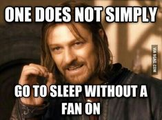 I can't sleep without some kind of fan on. Even in the winter I have my fan on high