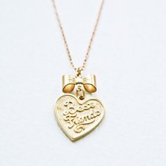 BFF Necklace; so cute with the little bow!!