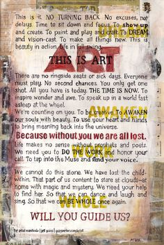 Artist Manifesto by Jeff Goins