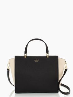 Kate Spade Chelsea Square Hayden Handbag in Black/Pebble