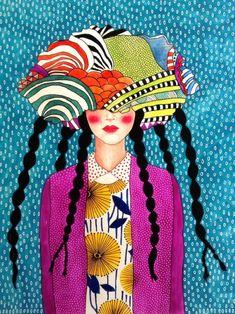"""reasons combine to force you away"" Hülya Özdemir Art Pop, Arte Popular, Portrait Art, Portraits, Oeuvre D'art, Collage Art, Art Inspo, Amazing Art, Folk Art"