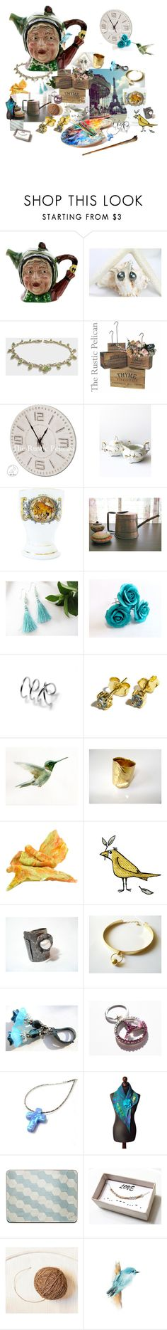 """Thank you! Treasury"" by treasury ❤ liked on Polyvore featuring Gamp, New, sunflower, Nikush and Treasury"
