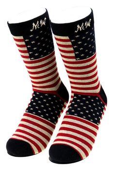 daa2515ba2a8e Montana West USA American Pride Fourth of July Patriotic Socks NEW! Men  Women OS