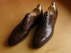 John Lobb dark brown museum calf oxford shoes