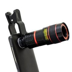 Get clear images 8 times closer with this Telephoto PRO Lens and make your pictures stand out like a PRO!The lens is an adjustable zoom lens that clips on any smartphone or tablet that has a camera. This is ideal for photography in sports arenas and for outdoors as well to capture those amazing nature shots!It has a universal clip that slips onto any device right over your case - no need to remove it. Once done you can quickly remove it. No app or batteries needed, just clip it on and take…