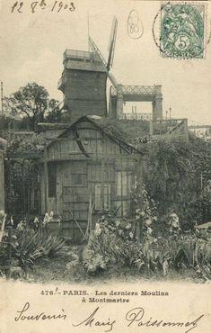 Old Paris, Vintage Paris, Eugene Atget, Paris Architecture, Montmartre Paris, Le Moulin, Life Is An Adventure, Old Postcards, Alter