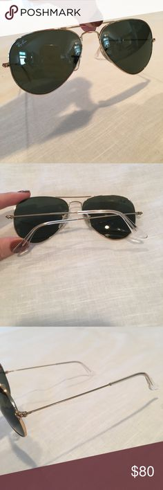 Ray Ban gold Ava is toe sunglasses In perfect condition. Gold frames and brown lenses. Ray-Ban Accessories Sunglasses