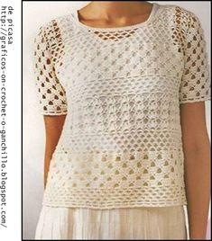 crochet fabric , CROCHET - GANCHILLO - PATRONES - GRAFICOS: CROCHET DAMA - MUY LINDAS IDEAS