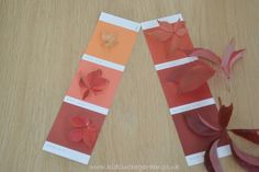 shades of fall - autumn leaf matching game for kids Autumn Leaf Color, Autumn Leaves, Autumn Crafts, Nature Crafts, Paint Color Chart, Tree Study, Craft Activities, Autumn Eyfs Activities, Nursery Activities