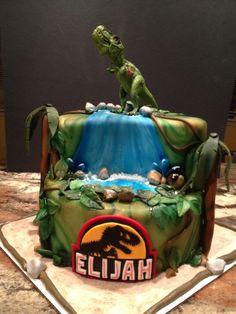 Jurassic Cake, Dino Cake, jungle cake Design With A Friend
