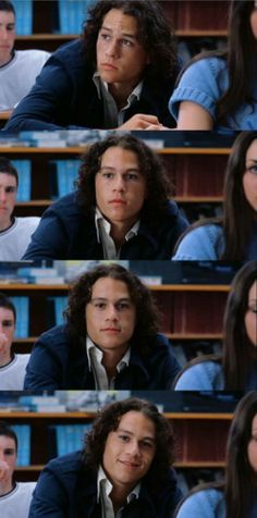 Heath Ledger on set from 10 things I hate about you. Heath Andrew Ledger  no set de 10 coisas q eu odeio em vc