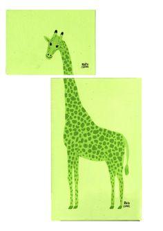 giraffe /Jirafa en dos