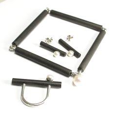 Vladimir Shestakov.  Cricket. Bracelet , earrings and ring . 925 Silver , ebony, natural pearls .http://www.shestakov-jewellery.ru/