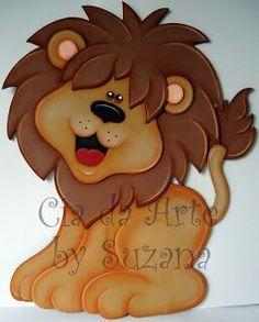 imagenes de leon en foami para distintivos - Buscar con Google