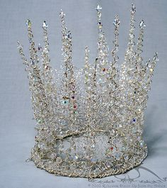 Incredible head pieces & more - DLGH White Witch Crystal Crown by upfromtheashes Ice Queen, Snow Queen, Royal Jewels, Crown Jewels, Tiaras And Crowns, Royal Crowns, Fascinators, Headpieces, Headdress