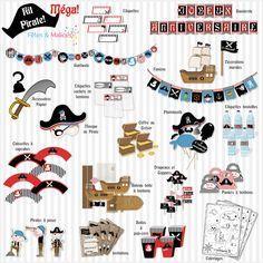 Un anniversaire Pirate! (Idée déco, kit à imprimer) | Fêtes