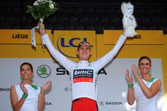 Tejay van Garderen donned the white jersey as best young rider after the prologue.