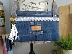 Sac ChaChaCha jeans et dentelle de Beatrice - Patron triple pochette Sacôtin