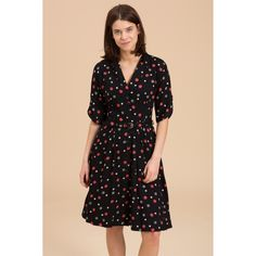 Emily and Fin | Emily and Fin Dresses | Holly Dress in Black with Red Multi Polkas - I actually own this dress and it's very flattering.