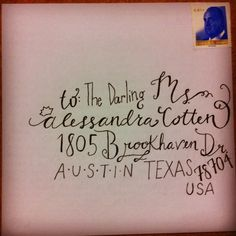 Hand written lettering need to remember next time I send a letter!