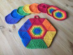 Crochet Books, Knit Crochet, Chrochet, Pot Holders, Mandala, Cool Stuff, Knitting, Creative, Pattern
