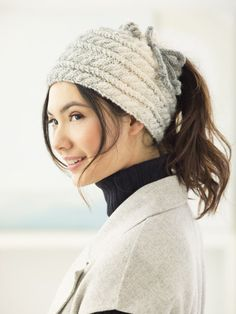 4d81a821ef8 Cabled Bun Hat (Knit) Ponytail Hat Knitting Pattern