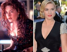 """Kate Winslet as Rose DeWitt Bukater in """"Titanic"""" ... and now."""