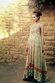 Eid And Bridal Wear Long Shirts For Young Girls By Tena Durrani From 2014-15