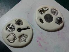 moldes de silicona con masilla de silicona y la harina. Tutorial.