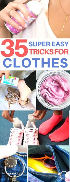 Genius fixes for ruined clothes! Clothing hacks, clothing tips & tricks, life hacks every girl should know, women's fashion, fix zipper, fix makeup stains, unshrink clothes