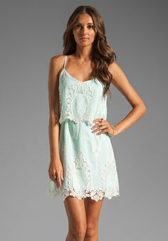 lace light blue summer dress