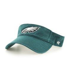 outlet store f4ff6 d19dc Philadelphia Eagles Clean Up Visor Pacific Green 47 Brand Adjustable Hat