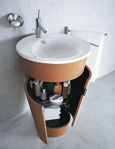 Mobiliario y lavabos para baños pequeños | Decorar tu casa es facilisimo.com