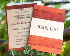 Celtic Fall Wedding Invitation