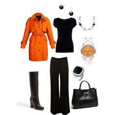 Orange and black business