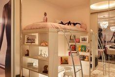 Morar Mais por Menos Rio de Janeiro 2012 - Casa Dream Bedroom, Kids Bedroom, Small Rooms, Small Spaces, Bedroom Inspo, Bedroom Decor, Backyard Cottage, Dorm Life, Kids Decor
