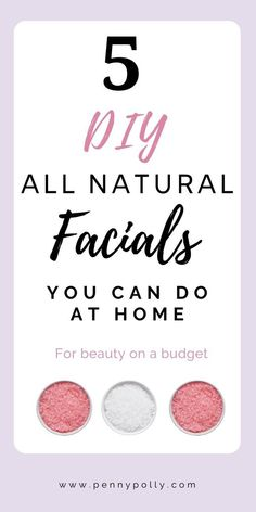 You don& have to spend a lot of money on a spa day! Have one at home with these 5 natural DIY facials that you can do at home. tips day at home diy Dyi Facial, Facial For Oily Skin, Natural Facial, Facial Care, Natural Skin Care, Facial Masks, Natural Beauty, Facial Scrubs, Beauty Tutorials