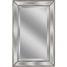 Metro Beaded Wall Mirror (11.105 RUB) ❤ liked on Polyvore featuring home, home decor, mirrors and beaded mirror