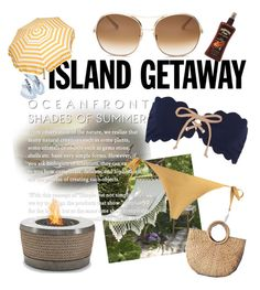 """Spring Break: Island Getaway"" by phoenix-ufacika ❤ liked on Polyvore featuring Marysia Swim, Zimmermann, Parasol, Chloé, Casadei, springbreak and islandgetaway"