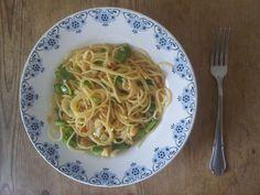 Eigenkreation: Vegetarische Spaghetti #Carbonara. Kann man essen!