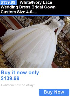 Wedding Dresses: White/Ivory Lace Wedding Dress Bridal Gown Custom Size 4-6-8-10-12-14-16-18+ BUY IT NOW ONLY: $139.99