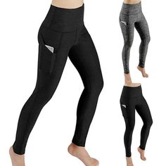 4d81bf06613 Women Workout Out Pocket Leggings Fitness Sports Gym Running Yoga Athletic  Pants