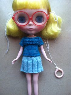 Knitting PatternScoop Sweater and Skirt for Blythe by BlytheKnits, $5.50