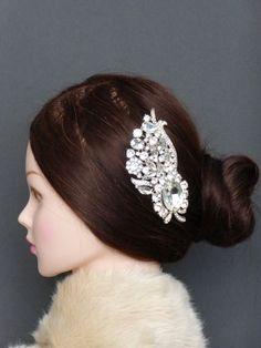 Bridal Bridesmaid wedding Crystals Rhinestone Diamanite Hair Comb Accessory Jewelry
