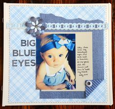 Creative Memories Denim Blues Scrapbooking Collection Layout Idea…