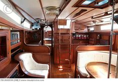 Interior of a wooden Sailboat http://www.sailboat-interiors.com/ http://www.sailboat-interiors.com/store