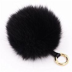 Large Real Fox Fur Pompom for handbag