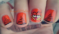 #nailart Garfield <3